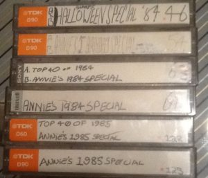 cassettes of Annie's shows