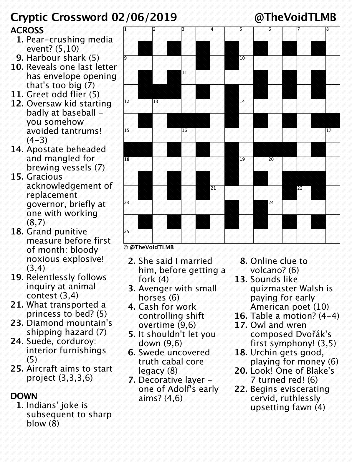 picture about Printable Cryptic Crosswords named crosswords TLMB